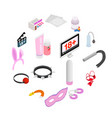 sex icons isometric 3d style vector image vector image