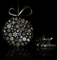 silver merry christmas postcard vector image vector image
