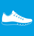 Sneakers icon white vector image