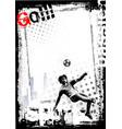 soccer poster background vector image