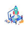 startup company - modern colorful isometric vector image