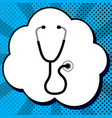 stethoscope sign black icon vector image