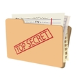 Top secret package cartoon icon vector image