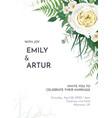 tropical greenery floral wedding invite border vector image vector image