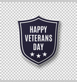 veterans day background template vector image vector image