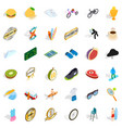 win icons set isometric style vector image vector image