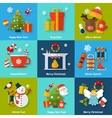 Winter concept set vector image vector image