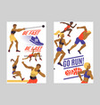 women athletics set of banners vector image vector image