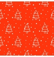 Xmas tree simple seamless pattern vector image vector image