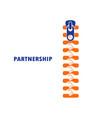 zipper symbol and handshake businessman agreement vector image vector image