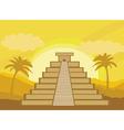 Maya Pyramid Chichen-Itza Mexico - vector image