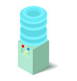 cooler icon isometric 3d style vector image