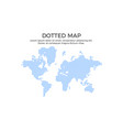dotted map infographic element vector image