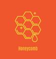 thin line icon honeycomb vector image