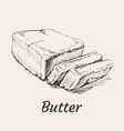 butter hand drawn vector image
