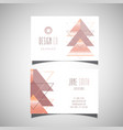 abstract design business card vector image vector image