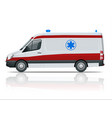 ambulance car an emergency medical service vector image vector image