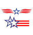 american star symbols signs logo set vector image vector image