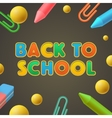 Back to school Kindergarten play and learn vector image