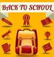 Back to school theme with school objects vector image vector image
