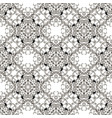 baroque black and white seamless pattern vector image vector image