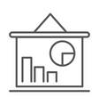 business board presentation diagram statistics vector image vector image