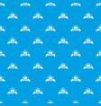 cleaning house pattern seamless blue vector image vector image