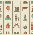 colorful vintage party icons seamless texture vector image vector image