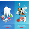 Dentistry Isometric Vertical Banners vector image