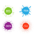 discount label set vector image vector image