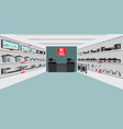 electronic department store with electrical vector image