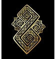 Ethnic pattern in gold and black colors vector image