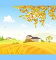 field wheat vector image