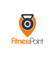 fitness gym point place logo template vector image vector image