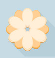 flower cookie icon flat style vector image vector image