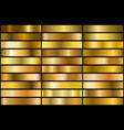 gold gradients vector image vector image