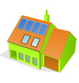 Green family house vector | Price: 1 Credit (USD $1)