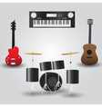 guitars drums and keyboard music instruments eps10 vector image vector image