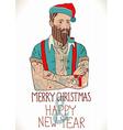 Hipster Santa Claus vector image