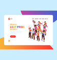 homosexual isometric banner vector image
