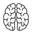 human brain icon outline style vector image vector image