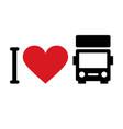 i love trucks vector image