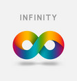 infinity multicolor abstract sign design element vector image vector image