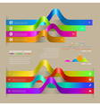 Infographic ribbon vector image