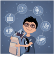 Little school boy vector image vector image