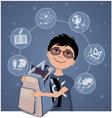 Little school boy vector image