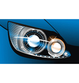 luminescent lamp design of a car vector image vector image
