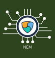 nem cryptocurrency poster vector image vector image