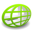 oval shaped wire-frame globe editable vector image