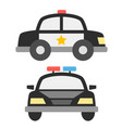 police car icons vector image